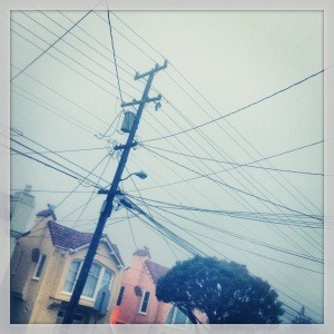 above ground electricity wires