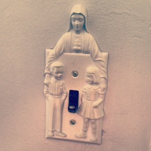 virgin mary light switch plate